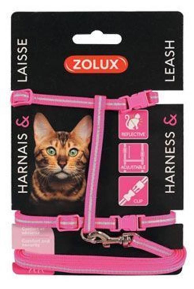 Zolux Postroj mačka s vodítkom 1,2m ružový Zolux