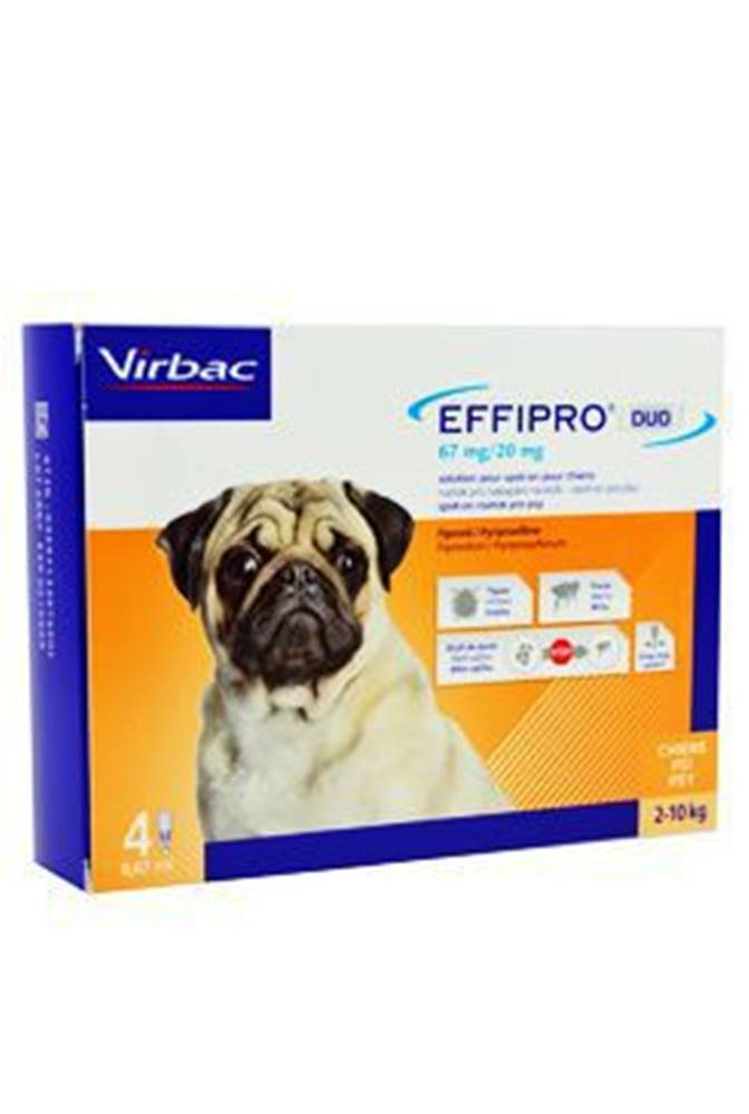 Virbac Effipro DUO Dog S (2-10kg) 67/20 mg, 4x0,67ml
