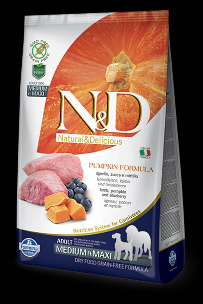 N&D N&D GF Pumpkin DOG Adult M/L Lamb & Blueberry 12kg