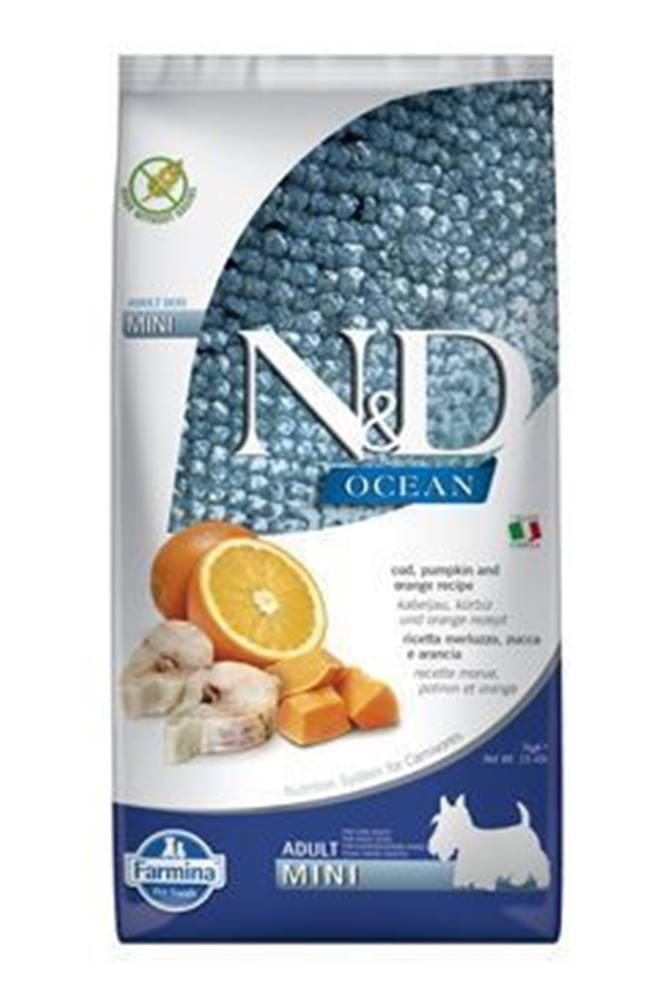 N&D (Farmina Pet Foods) N&D OCEAN DOG LG Adult Mini Codfish & Orange 7kg