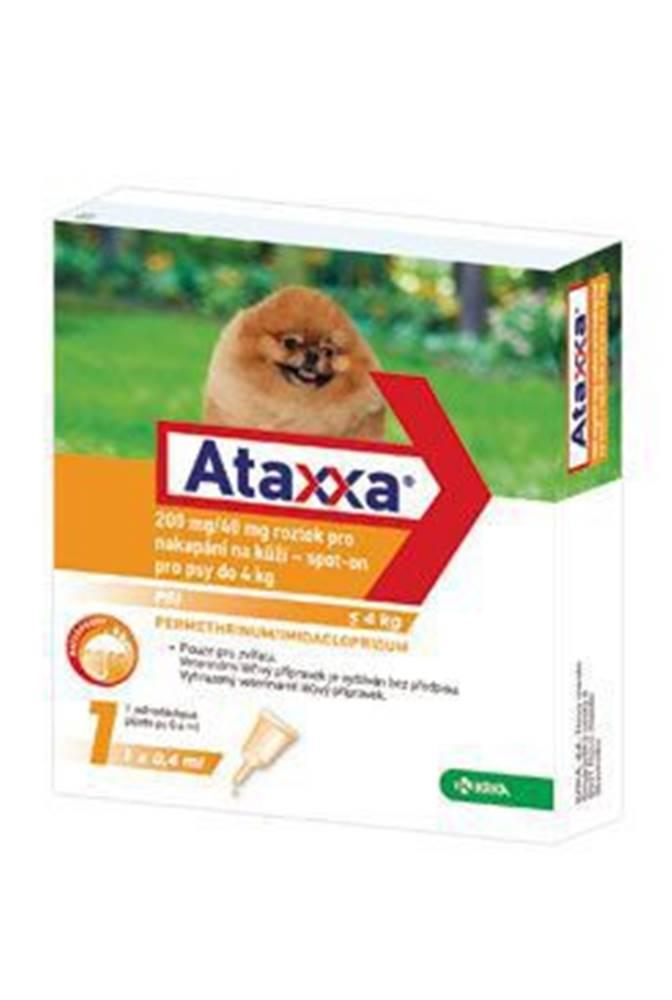 KRKA Ataxxa Spot-on Dog S 200mg/40mg 1x0,4ml