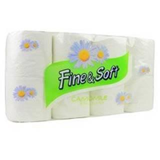 Wc toaletní papír Fine and Soft 3V kamilkový 8ks