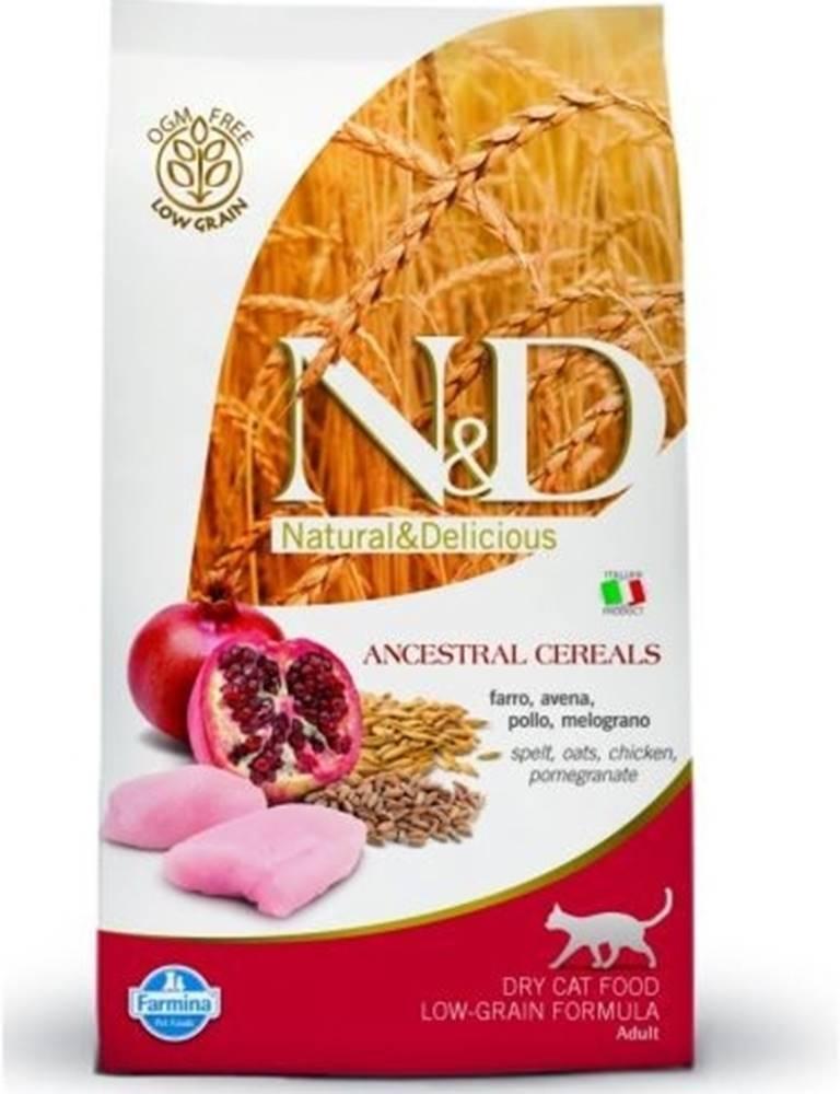 N&D N&D Low Grain CAT Adult Chicken & Pomegranate 5kg