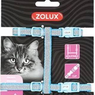 Postroj mačka SHINY nylon modrý Zolux
