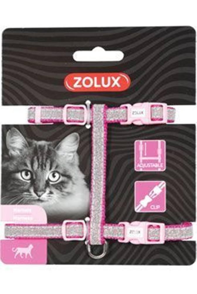Zolux Postroj mačka SHINY nylon ružový Zolux