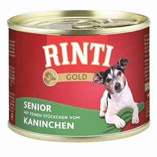 Rinti Gold Senior konzerva králik 185g