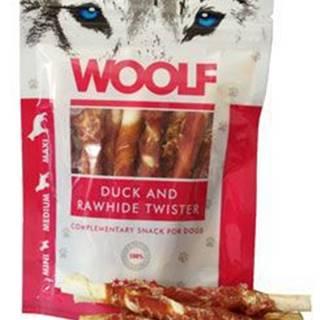 WOOLF pochoutka Duck&Rawhide twister 100g