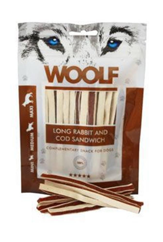 Woolf WOOLF pochoutka soft Rabbit&Pollock sandwich LONG 100g