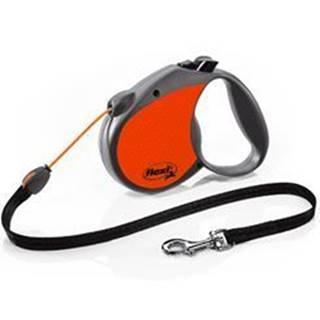 Vodítko FLEXI Neon Reflect Lanko S 5m/12kg oranžová