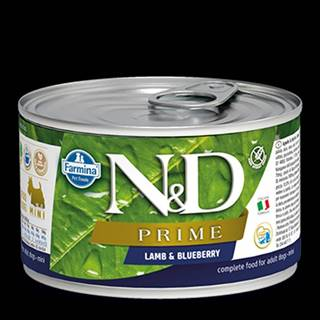 N&D DOG PRIME Adult Lamb & Blueberry Mini 140g