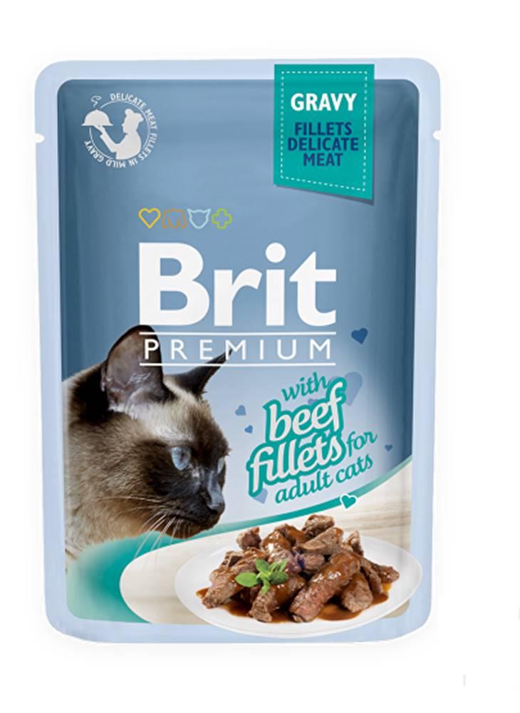 Brit Brit Premium Cat D Fillets in Gravy With Beef 85g