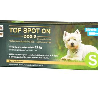 Top spot on Dog S 1x1ml (do 15kg)