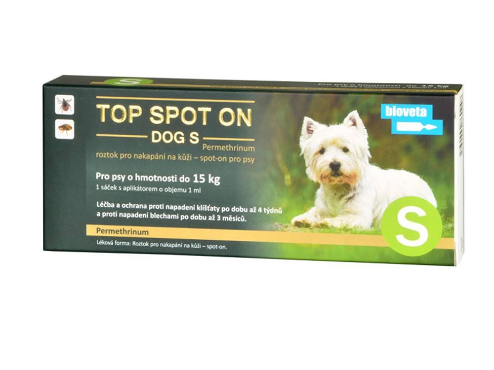 Bioveta Top spot on Dog S 1x1ml (do 15kg)