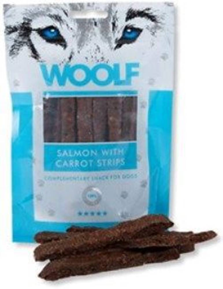 Woolf WOOLF pochoutka salmon with carrot strips 100g