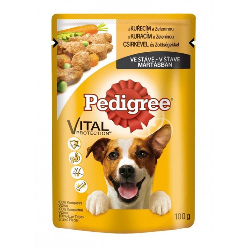 Pedigree Pedigree kapsa kuřecí a zelenina ve šťávě 100g