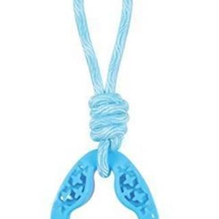 Hračka pes TPR SAMBA trojuholník s lanom modrá Zolux