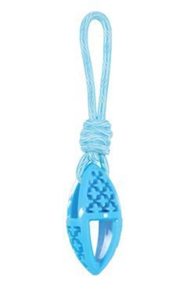 Zolux Hračka pes TPR SAMBA ovál s lanom modrá Zolux