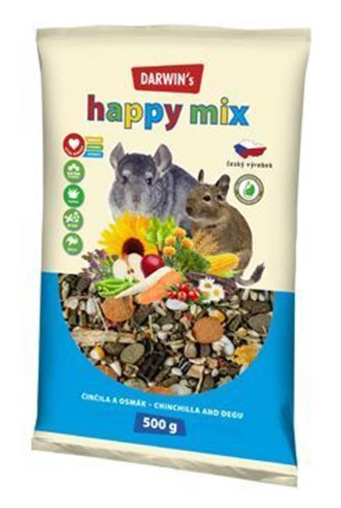 Nutri Can Darwin's Činčila&Osmák Happy mix 500g NEW