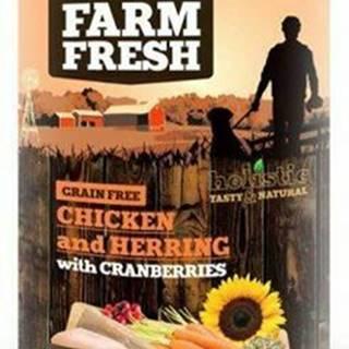 Farm Fresh Dog Chicken&Herring+Cranberries konzer 400g