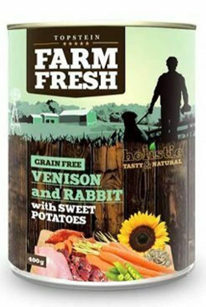 Farm Fresh Farm Fresh Dog Venision&Rabit+Sweet Potatoes konz 800g