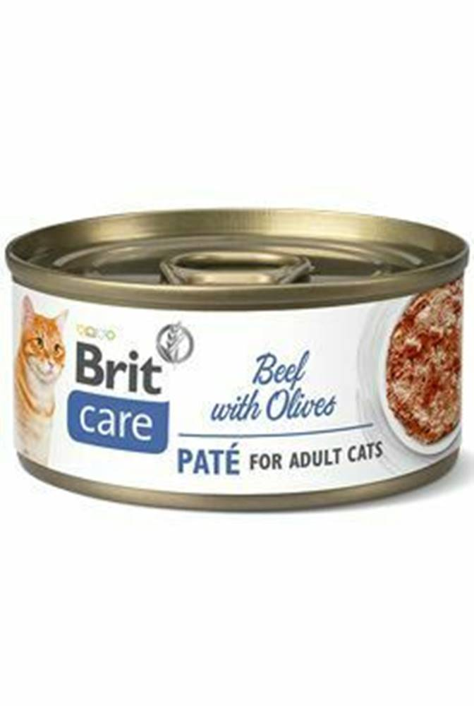 Brit Care Brit Care Cat konz  Paté Beef&Olives 70g