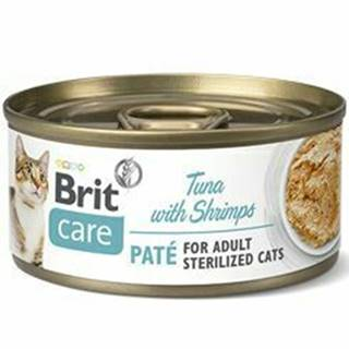 Brit Care Cat konz  Paté Sterilized Tuna&Shrimps 70g