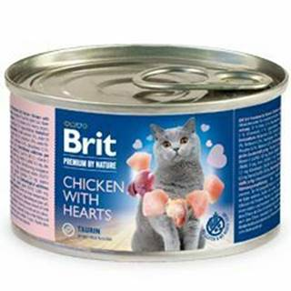 Brit Premium Cat by Nature konz Chicken&Hearts 200g