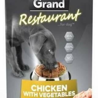 GRAND kaps. deluxe pes Restaur. 100% kuracie, zel. 300g