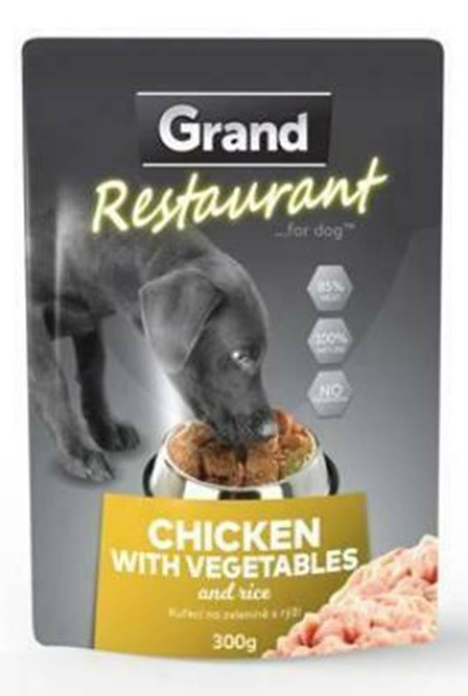 Grand GRAND kaps. deluxe pes Restaur. 100% kuracie, zel. 300g