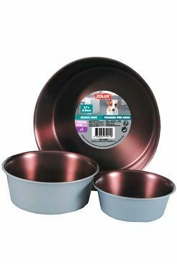 Zolux Miska nerez protisklz COPPER 2,7 l Zolux