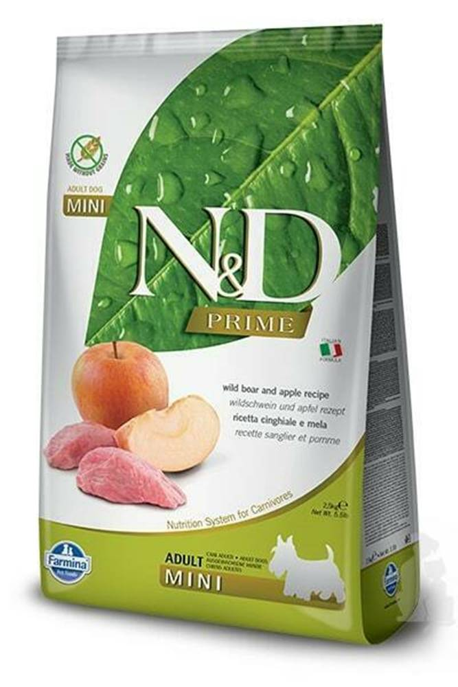 N&D (Farmina Pet Foods) N&D PRIME DOG Adult Mini Boar & Apple 7kg