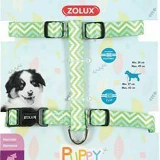 Postroj pes šteňa PIXIE nastaviteľný zelený 13mm Zolux