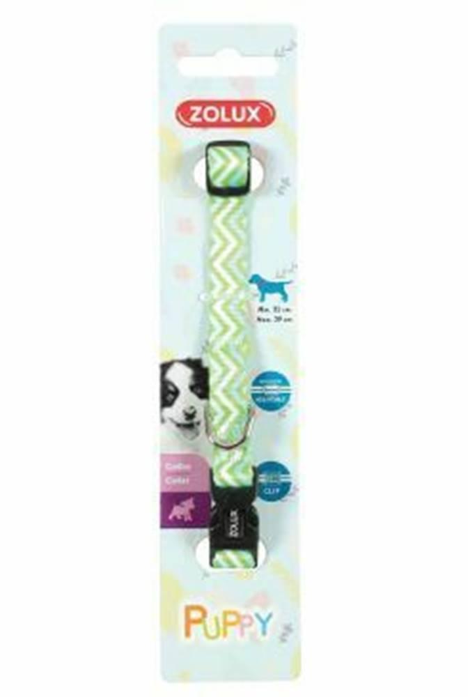 Zolux Obojok pes šteňa PIXIE nastaviteľný zelený 8mm Zolux
